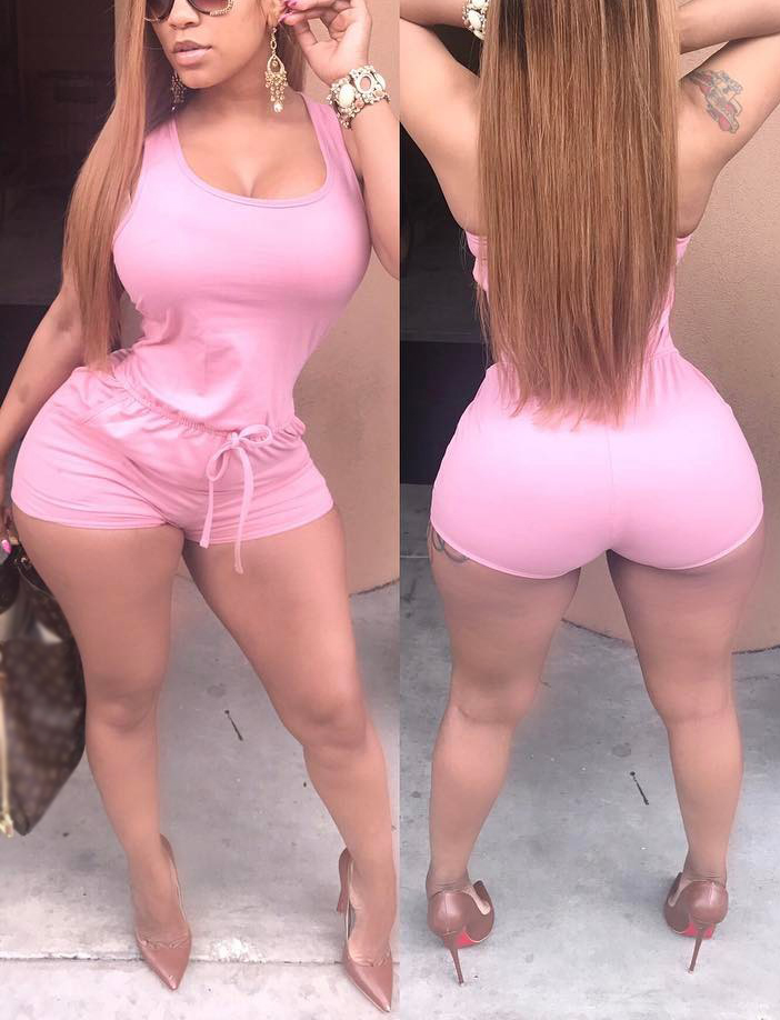 Leisure U-shaped Neck Drawstring Design Pink Qmilch One-piece Skinny Jumpsuits<br>