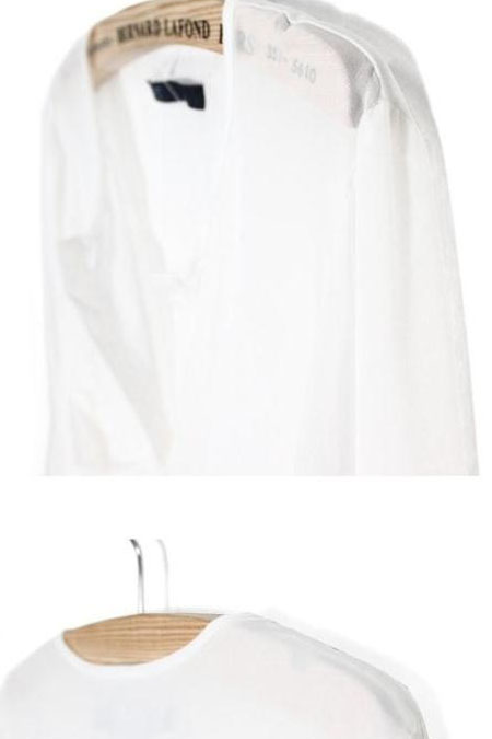 European Styles V Neck Long Sleeves Solid White Chiffon Shirt