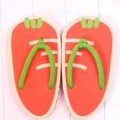 Refreshing Summer Carrot Print Low Heel Slippers
