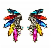 Brilliant Tassels Embellished Metal Earrings