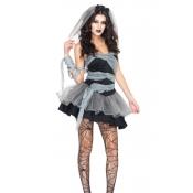 Sexy Strapless Black Polyester Vampire Bridal Hall