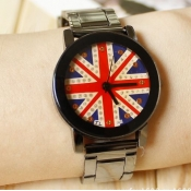 Vintage UK National Flag Print Small Size Alloy Wr