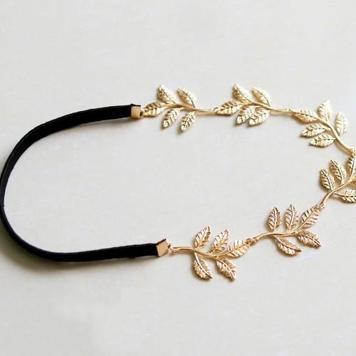 Fashion Sweet Olive Five-Leaf Embellished Metal Hairpin