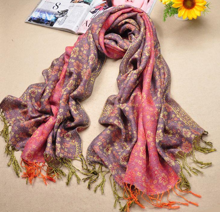 Fashion Pink Cotton Scarf