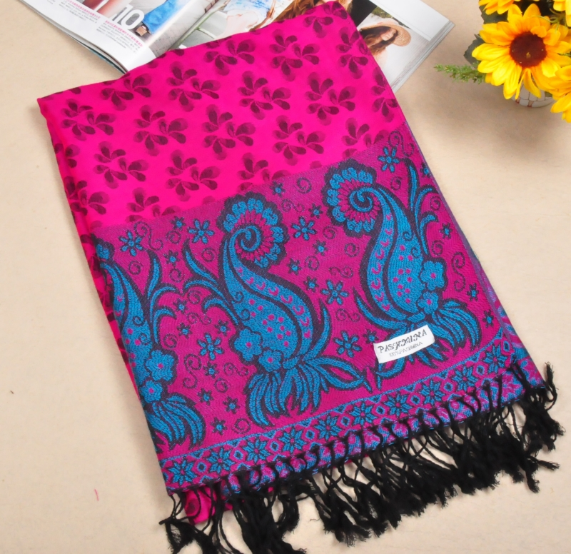New Style Rose Red Cotton Scarf