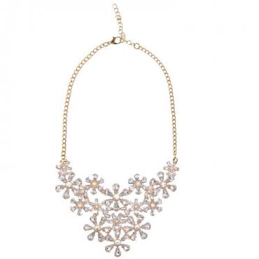 Fashion White Metal Necklace