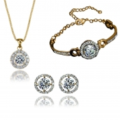 Fashion Gold Metal Wedding Jewelry Set