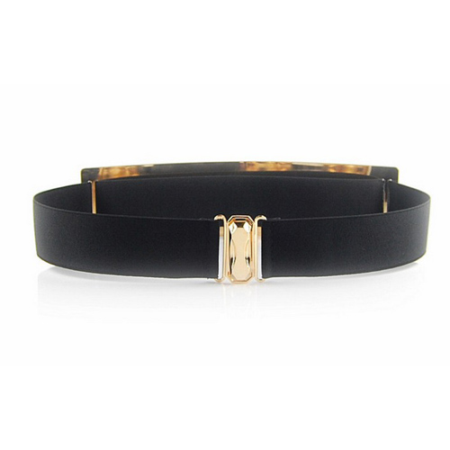 Fashion Woman Metal Plating Black Alloy Belt