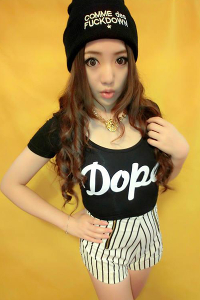 Fashion O Neck Short Sleeve Letter Black Cotton T-Shirt