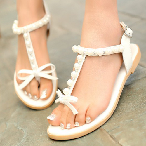 Two Strap Flat Sandals Cheap