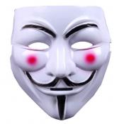 Cheap Fashion V-shape PVC Mask with Red Flush