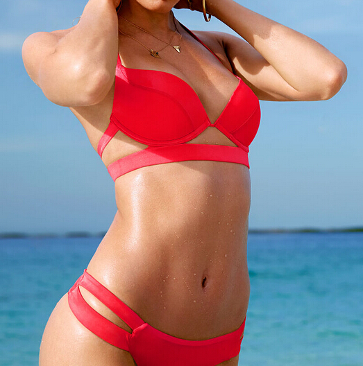 cheap red bikini