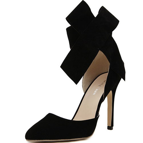 Cheap Fashion Pointed Closed Toe Bow-tie Shaped Ankle Strap Design ...