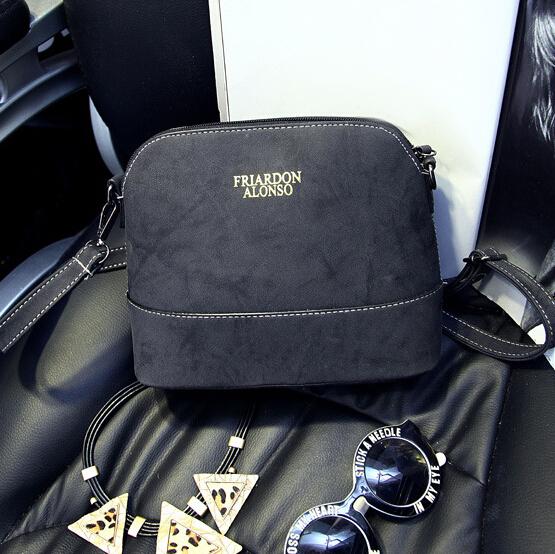 Cheap Women Fashion Zipper Design Solid Black PU Slanting Bag