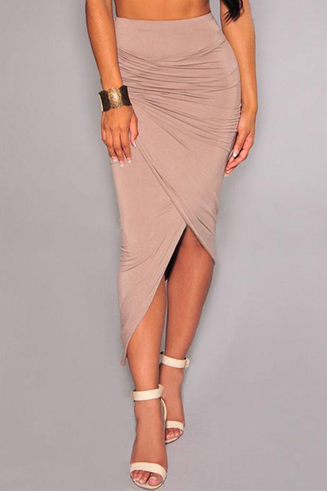 cheap draped sheath mini skirt