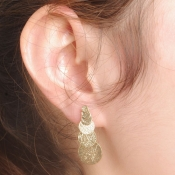 Fashion Sequined Gold Metal Earrings