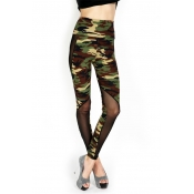 Fashion Print Blending Mid Leggings