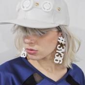Fashion Letters Shaped White Metal Earrings