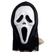 Halloween Screaming Face PVC Mask