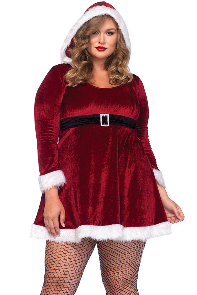 fashion plus size red christmas cosplay costumes