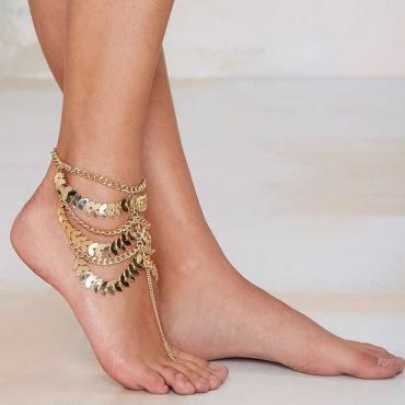 Fashion Tassel Design Chaîne en métal multicouches en métal multicouches