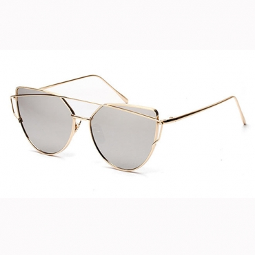 Retro Hollow-out Silver Acrylic Sunglasses