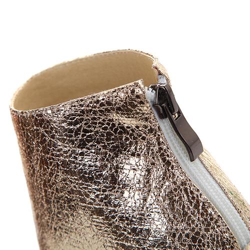 trendy tiro espreitadela dedo do pé colorir-block Patchwork Stiletto Super High Heel Preto PU Bombas