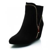 Trendy Pointed Closed Toe Zipper Design High Heel