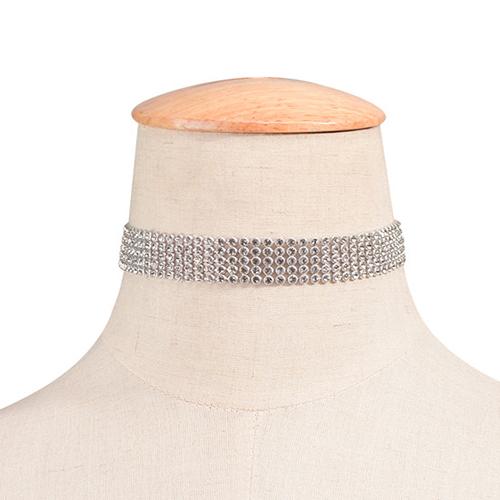 Fashion Rhinestone Decorative Acrylic Choker (Width 1.6cm)