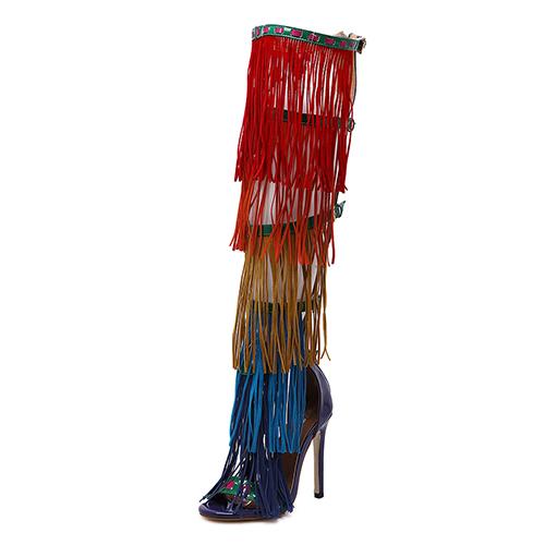 Suede Stiletto Супер Высокая Сандалии Моды