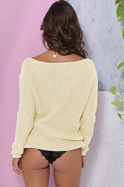 Acrylic V Neck Long Sleeve Regular Pullovers Sweaters & Cardigans