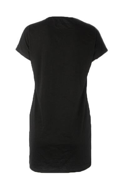 Polyester Casual O neck Short Sleeve Sheath Mini Dresses