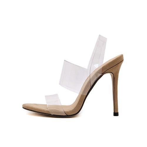 Stiletto PU Sandálias Super Alta Moda