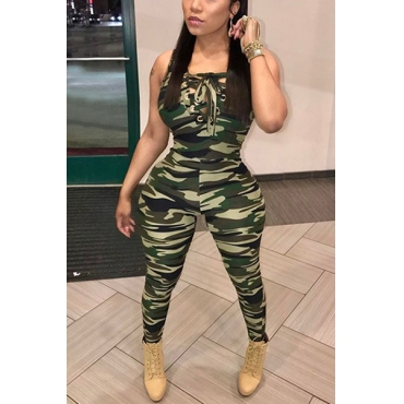Polyester Print Skinny Jumpsuits