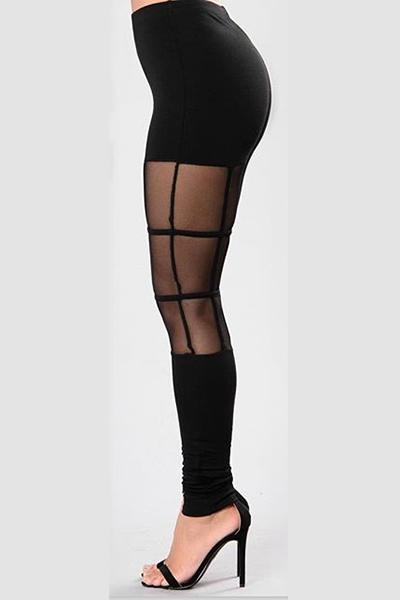 Knitting Solid High Leggings