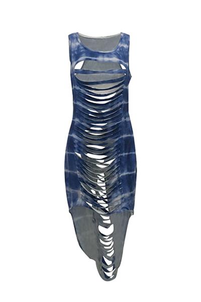 Qmilch Sexy O шейный платок оболочки лодыжки платья