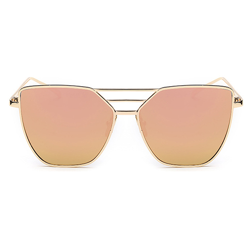 Euramerican Hollow-out Pink Metal Sunglasses