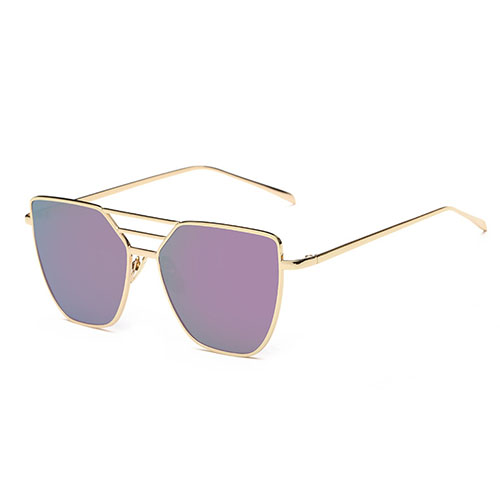Euramerican Hollow-out Purple Metal Sunglasses