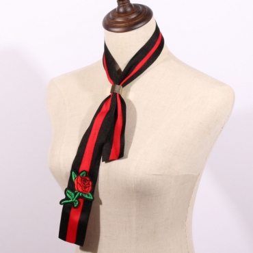 Fashion Black-red  Cotton Scarves