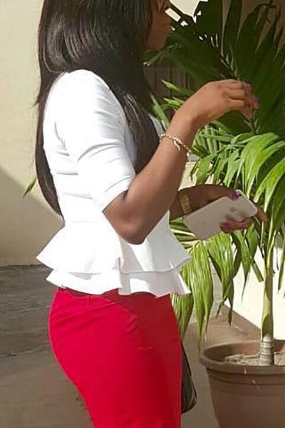 Стильные круглые шеи с половиной рукава Falbala Design Белые рубашки из полиэстера