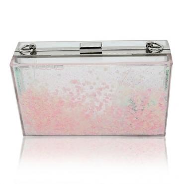 Forme Sequined el PVC rosado decorativo empaqueta los bolsos