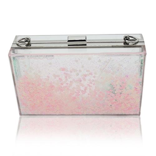 Мода блестками Декоративные Розовый ПВХ Клатчи Сумки