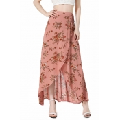 Cotton Print A Line Ankle Length Skirts