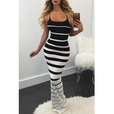 Twilled Satin Casual Boat Neck Spaghetti Strap Sleeveless Sheath Floor length Dresses
