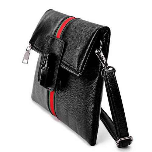 Stylish Patchwork  Black PU Clutches Bags