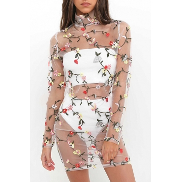 Sexy See-Through Gauze Sheath Mini Dress(Without Lining)