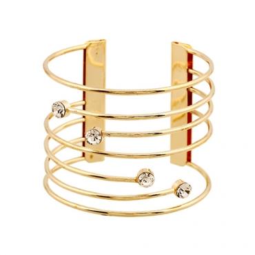 Fashion Hollow-out Gold Metal Bracelet