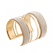 Fashion Rhinestone Decorative Gold Metal Bracelet(