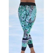 Blending Print Mid Leggings