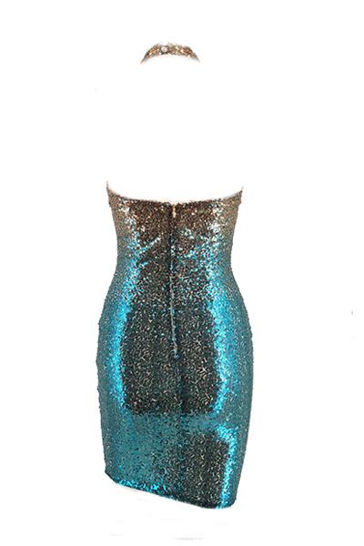 Euramerican Sequined decorativo abito ginocchio lunghezza abito
